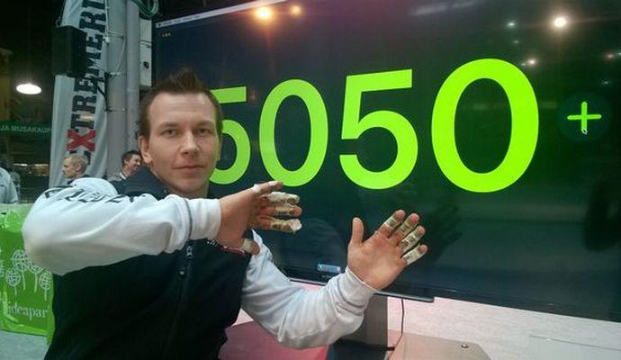Пожарный в Финляндии подтянулся 5050 раз и поставил мировой рекорд