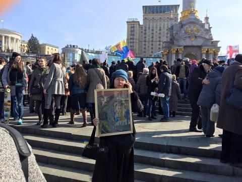 В Киеве повесили чучело Путина: опубликованы фото (2)