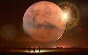 """""""Падение"""" гигантской Луны на Землю: в сети показали зрелищное видео"""