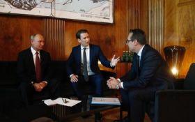 Жду политического решения России в отношении Украины: канцлер Австрии Курц встретился с Путиным