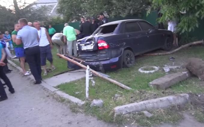 В сети появилось страшное видео с места аварии под Киевом