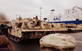 В Польшу прибыл первый американский танк: появилось фото