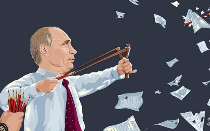 Путін вивчає звіт про катастрофу MH17: в мережі з'явилася карикатура