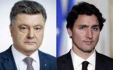 Порошенко и Трюдо обсудили ситуацию на Донбассе и сотрудничестве между Украиной и Канадой