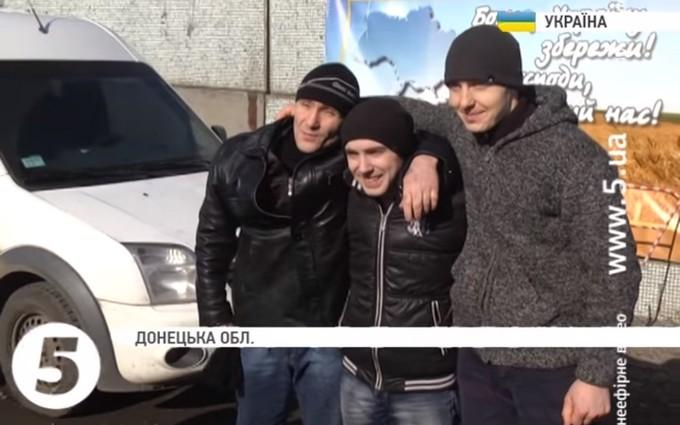 Появилось видео освобождения украинских военных из плена ДНР