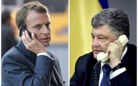 Порошенко провел переговоры с Макроном: о чем договорились президенты Украины и Франции