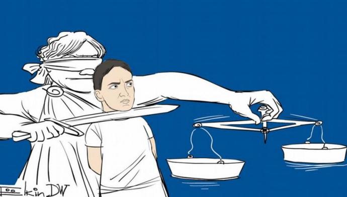 Известный карикатурист показал истинное лицо суда над Савченко (1)