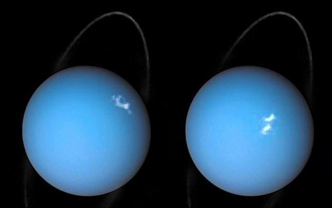 Снимок: «Хаббл» примечает  полярные сияния наУране