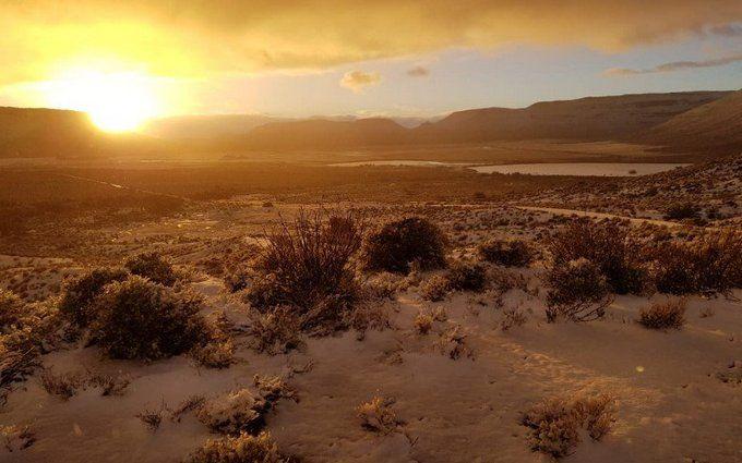 Зима посреди лета: в сети появились зрелищные фото и видео засыпанной снегом Африки