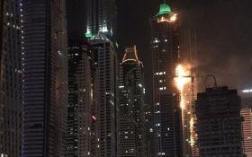 У Дубаї горіла одна з найвищих в світі будівель: з'явилися фото і відео