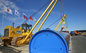 Транзит газу з Росії через Україну значно знизився