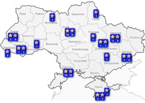 Де в Україні можуть з'явитися казино (карта)