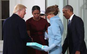 Что стало с подарком Меланьи Трамп Мишель Обаме: появилось смешное видео