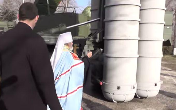 Российские священники освятили оружие Путина в оккупированном Крыму: появилось видео