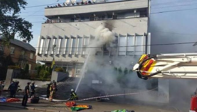 """Пожежа на """"Інтері"""": з'явилися нові фото, відео і дані про причини (1)"""