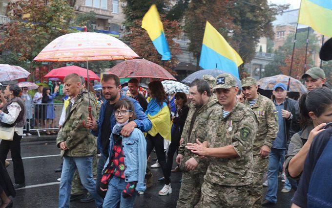 Бійці добробатів у Києві вийшли на окремий марш: з'явилися фото та відео