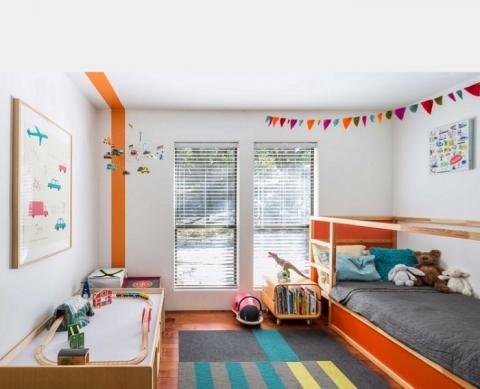 Круті ідеї, який допоможуть з оформленням дитячої спальні в стилі Mid-centry modern (17 фото) (5)
