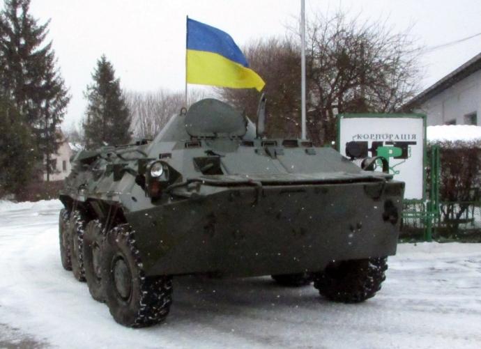 Львовским десантникам передали отремонтированный БТР-80 (3 фото) (1)