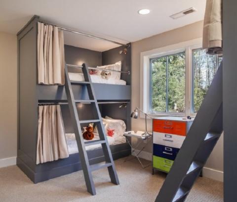 Круті ідеї, який допоможуть з оформленням дитячої спальні в стилі Mid-centry modern (17 фото) (4)