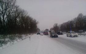 В масштабній аварії на Житомирщині зіткнулися 14 авто: опубліковано фото