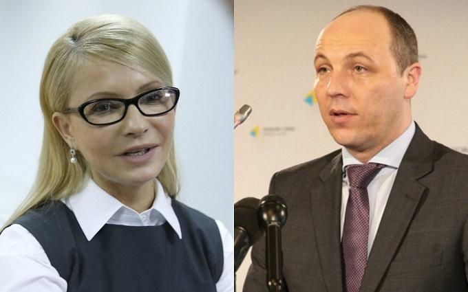 """""""Голлівуд"""" у Раді: Парубій вступив у перепалку з Тимошенко"""