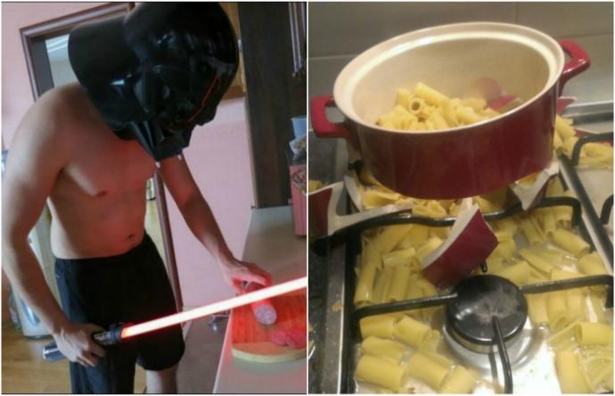 Добірка кумедних знімків про чоловіків і готування (16 фото)
