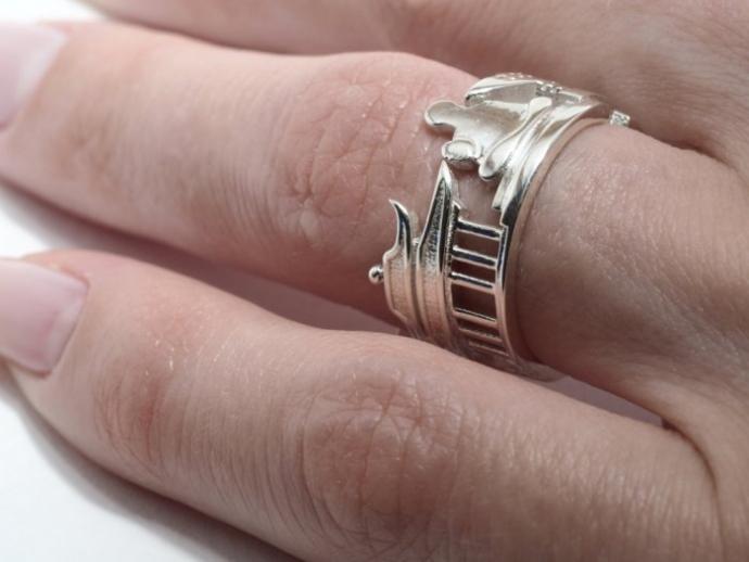 Драгоценные кольца с городскими пейзажами (22 фото) (9)