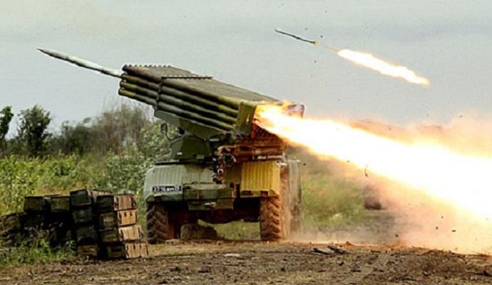 По позициям украинских военных на Донбассе применялись реактивные системы залпового огня