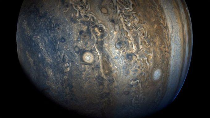 NASA показало хмарні пояси в південній півкулі Юпітера