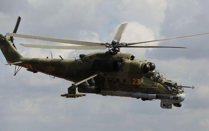 З'явилося відео зі збитим в Сирії бойовим вертольотом
