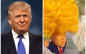 Оригінальний подарунок на Новий рік: в мережі продають туалетний йоржик в формі Дональда Трампа