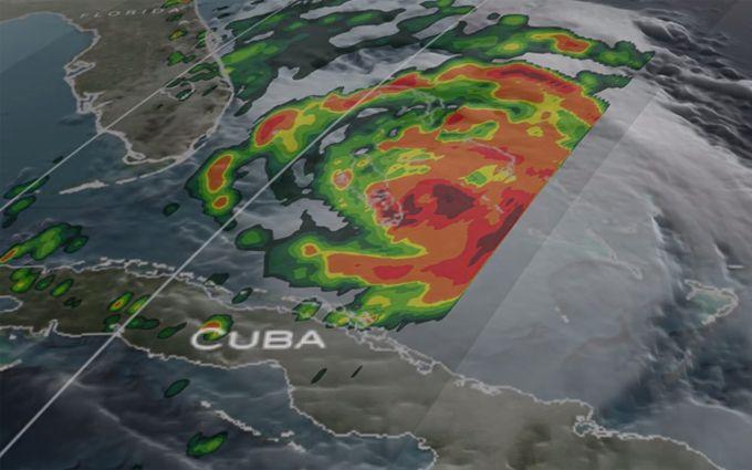 """Моторошний Ураган """"Меттью"""" показали з космосу: опубліковано відео"""