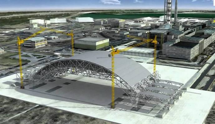 Новый саркофаг в Чернобыле обещают достроить в этом году