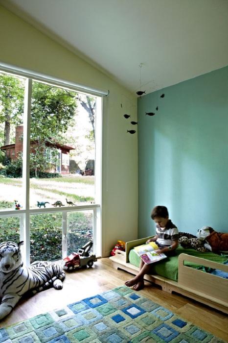 Круті ідеї, який допоможуть з оформленням дитячої спальні в стилі Mid-centry modern (17 фото) (8)