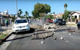 Подземный взрыв в Лос-Анджелесе создал огромнуюворонку: появилось видео