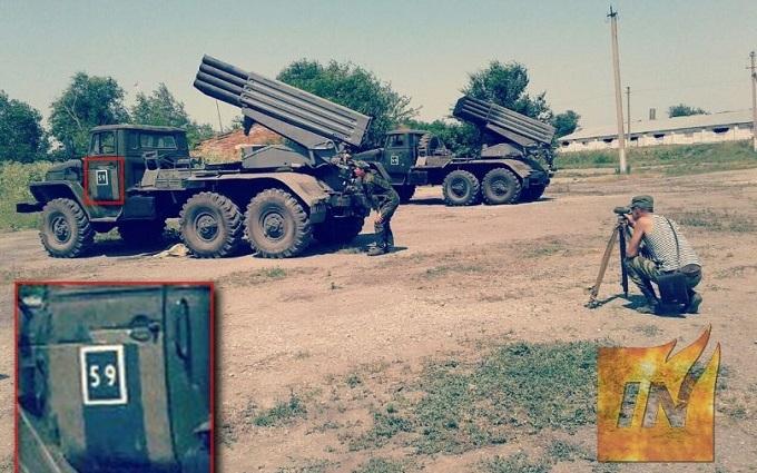 """Заряджені """"Гради"""": з'явилися нові фото російської зброї на Донбасі"""