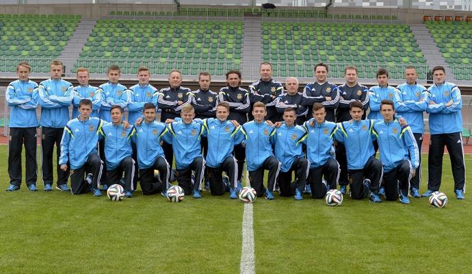 Юношеская сборная Украины по футболу сыграет на турнире в Минске