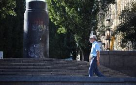 В Киеве на месте памятника Ленину появилась композиция растений: опубликовано фото