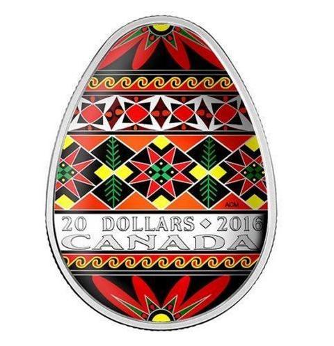 В Канаде выпустят монеты в форме украинской писанки (2)