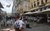 Появилось видео как немецкие хулиганы напали на украинских болельщиков на Евро-2016