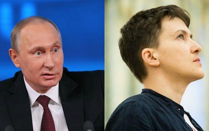 Вона полетіла: карикатурист їдко висміяв Путіна, який відпустив Савченко
