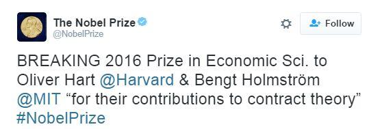 Нобелівську премію з економіки отримали два дослідника (1)