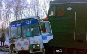 У Росії потяг зіткнувся зі шкільним автобусом, є жертви