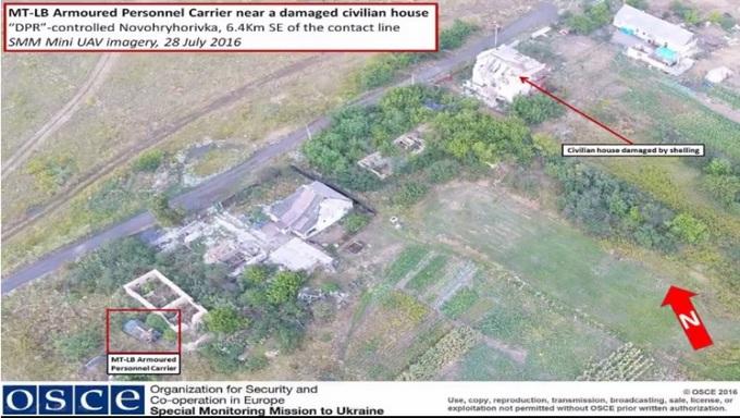 Військову техніку бойовиків зняли з повітря: опубліковані фото (1)