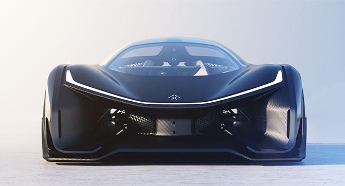 Faraday Future показала концепт своего спортивного электромобиля FFZERO1 (5 фото, видео)