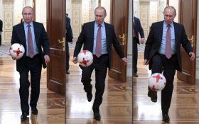 Путин поиграл в футбол в Кремле, в сети смеются: опубликовано видео