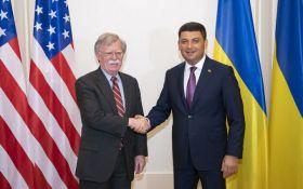 Гройсман провів переговори з Болтоном в Києві: про що говорили прем'єр України і радник Трампа