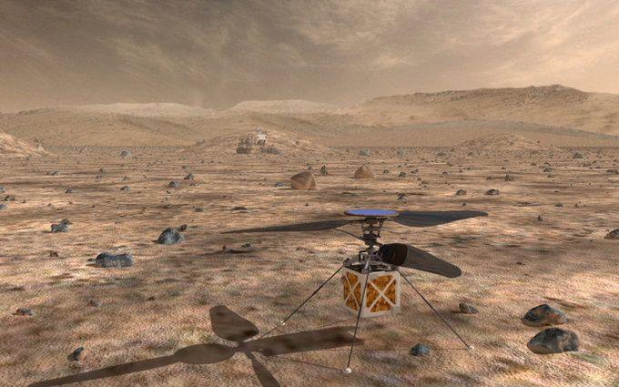 NASA відправить на Марс космічний вертоліт: опубліковано відео