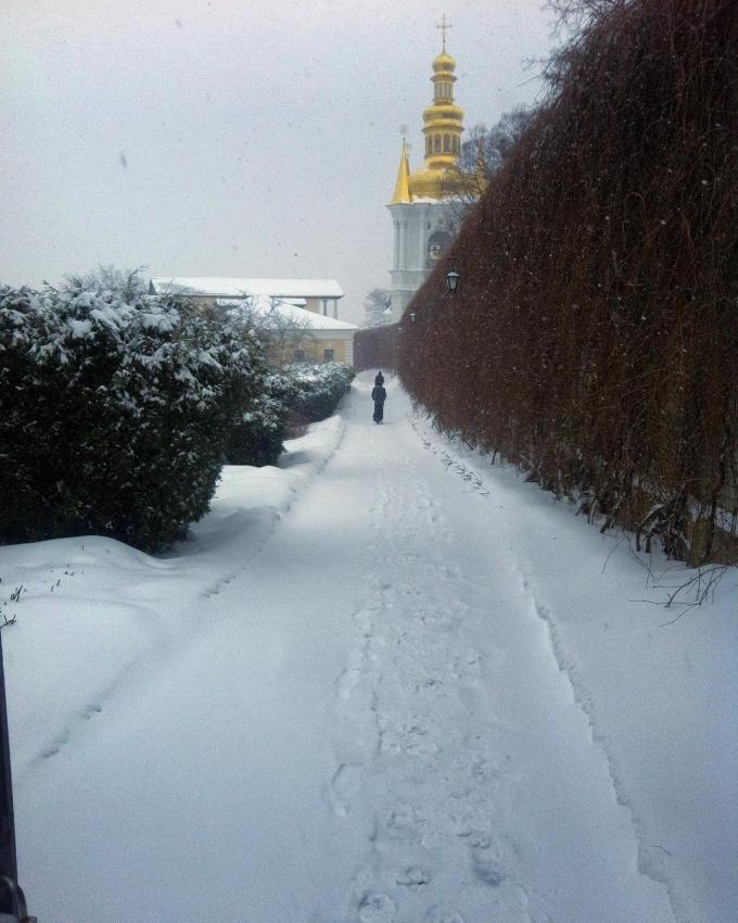 Киев засыпало снегом: пользователи сети публикуют яркие фото (2)