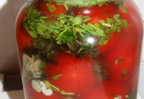 Рецепт - Соленые помидоры
